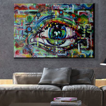 unique modern abstract art painting of eye wall canvas pop hand painted ideas cuadros decoracion artwork for bar office