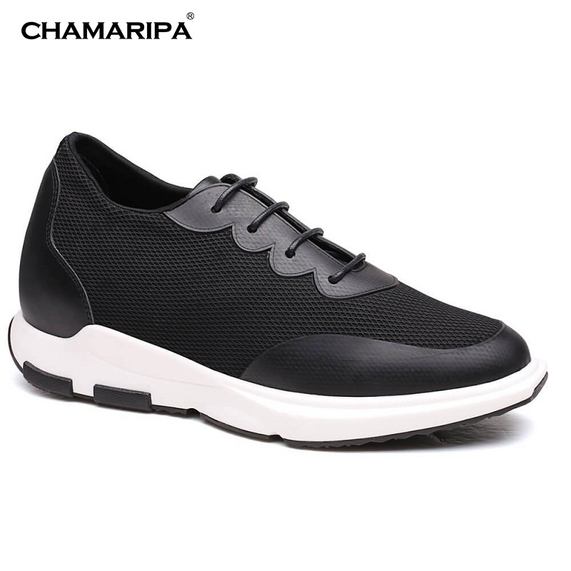 CHAMARIPA Elevator Shoes Men Increase Height 7cm/2.76 inch Breathable Elevator Sneaker Outdoor Casual Lifting Shoes H72C11K201D chamaripa increase height 7cm 2 76 inch elevator shoes increase height shoes men business formal black shoes