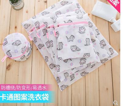 Impresso saco de artigos de higiene pessoal além de grande sutiã saco de lavagem cueca saco de roupa especial net máquina de lavar saco saco do desenhador saco de rede