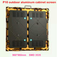 Big size 960*960mm P10 4scan outdoor waterproof die casting aluminium equipment cabinet display