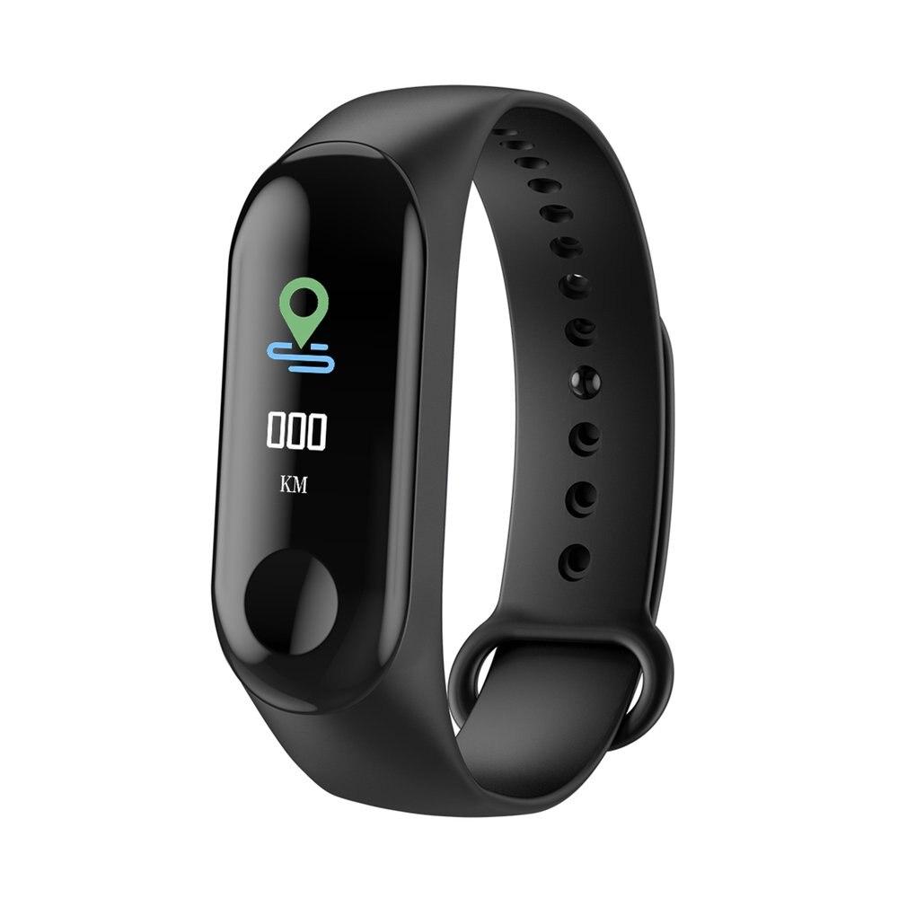 M3C pulsera inteligente banda pulsera Corazón de Monitor de presión arterial pulsera inteligente de pantalla táctil pulso paso reloj de tiempo A35