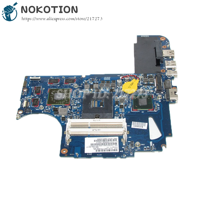 NOKOTION 654173-001 For HP Envy 14 14-2000 Laptop Motherboard PCA SYS Board HM65 HD6630M 1GB Video Card 6050A2443401-MB-A02 top quality for hp laptop mainboard envy 14 654173 001 laptop motherboard 100% tested 60 days warranty
