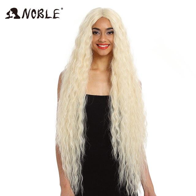Благородный синтетический парик из волос кружева спереди синтетический парик с длинными кудрявыми волосами Омбре светлые волосы парик 42 дюйма 613 Американский синтетический парик фронта шнурка