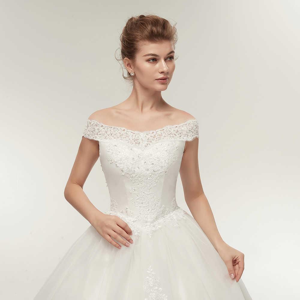 6760dc429 ... Fansmile coreano encaje apliques vestidos de baile vestidos de boda 2019  más tamaño vestido de novia ...