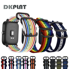 DK Nylon Watch Band for Amazfit Strap 20mm for Xiaomi Huami Amazfit Youth Bip Bit Smart Watch Strap Bracelet