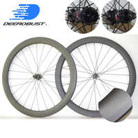 1403g Center Lock 700C 50mm x 25mm Tubeless Clincher Road Disc Cyclocross Bicycle Carbon Wheels CX Bike Wheelset Novatec XDR