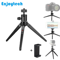 Mini Tabletop Tripod for Phone Portable Tripod with Phone Holder for Xiaomi Huawei Smartphones Tripod for DSLR Gopro Cameras