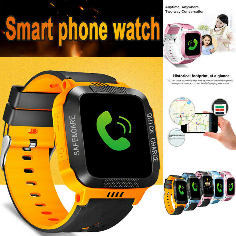 Anti-lost Kids Safe GPS Tracker SOS Call GSM Phone Smart Watch For IOS Android