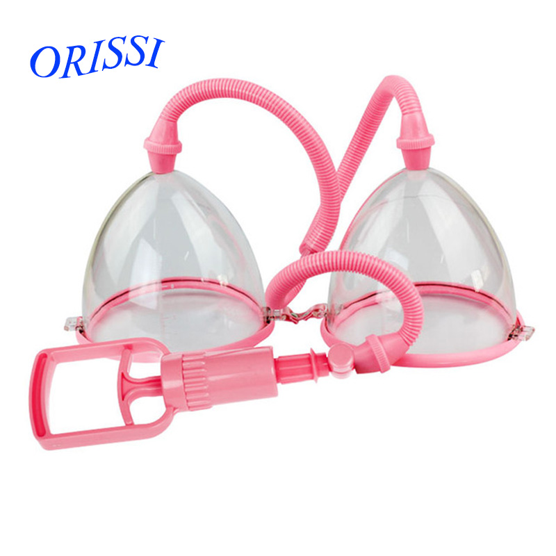 ORISSI Adult toys Manual Breast Pumps(Biger), Chest Enlargement With Twin Cup, Chest Pum ...
