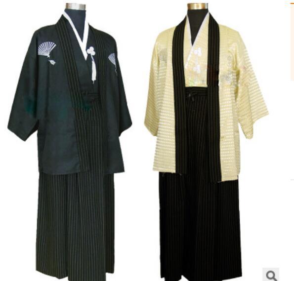 Оптовая продажа, национальная одежда, костюмы традиционного японского самурая, мужское кимоно для сцены из полиэстера для взрослых