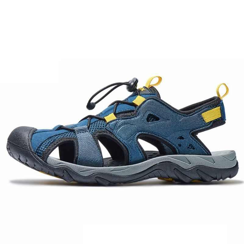 Mannen Outdoor Strand Sandalen Gesloten Teen Anti-slip Zomer Sport Schoenen Unisex Lichtgewicht Leisure Cut Out Slippers AA12324