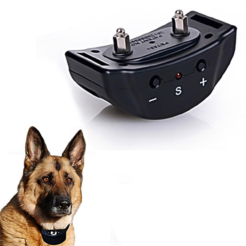 Electricial Dog Anti Bark Collar Training Collars Pet Trainer treatment for barking dogs Training Behavior Aids