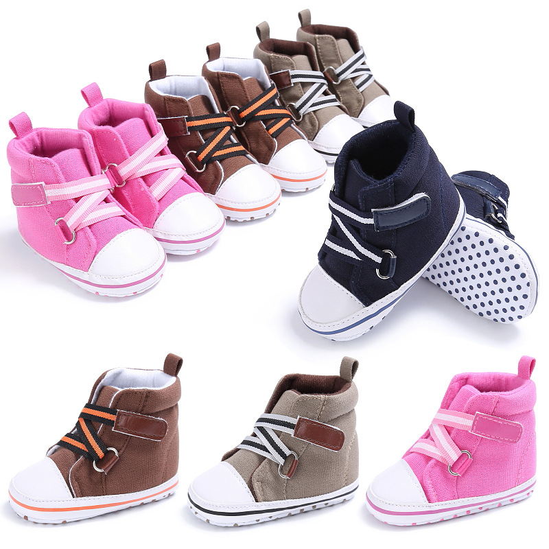 Fashion Newborn Baby Girl Boy font b Shoes b font First Walkers Sneakers Soft Soled Infant