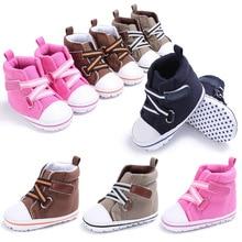 Moda Bebê Recém-nascido Da Menina do Menino Sapatos Primeiro Caminhantes Tênis Macio sola Criança Crianças Infantis Berço Bebe Sapatos Para Calçados 0-1 T