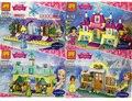 4 unids LELE Amigos Bloques de Construcción del Castillo de la Princesa Kristoff Anna Elsa Mini-Muñeca de Juguete Figuras Compatible Legoe Amigos