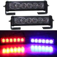 2 pz 36 W 12 v Strobe Spia auto Camion Moto LED Bar Luci Diurne Bianco Rosso Blu led di Emergenza Della Polizia luce