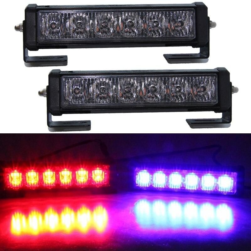2pcs 36W 12v Strobe car Warning Light Truck Motorcycle LED Bar Daytime Running Lights Red Blue White led Police Emergency Light