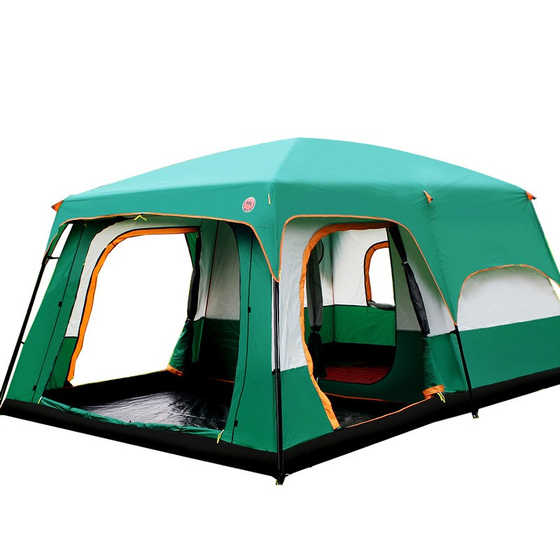 Luxury Ultralarge Outdoor 6 10 12 People Camping 4Season Tent Outing Two Bedroom Tent Big High Quality Party Family Camping Tent high quality single layer ultralarge 4 8person family party gardon beach camping tent gazebo sun shelter mesh mosquito tent