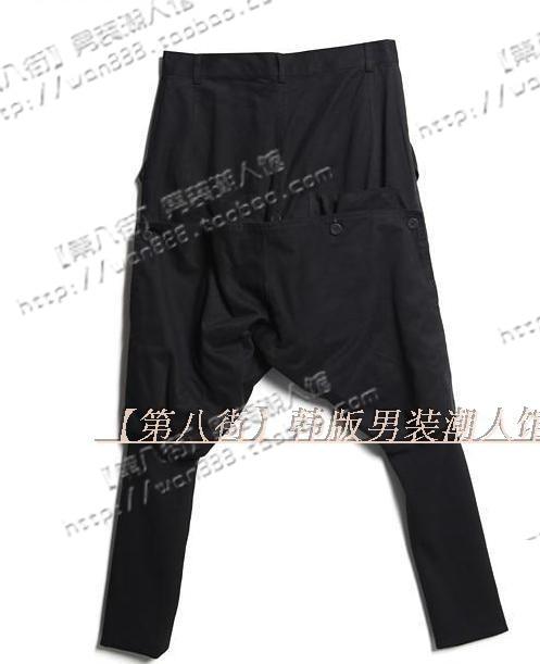 Nuevos Gd Disfraces Calle De Pelo Harem Gota Tamaño Negro Pantalones 27 Ropa 2019 Hilo Estilista Hombres Colocación Plus entrepierna 46 Uxq8XfwzE