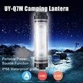UY-Q7M À Prova D' Água 4 Modo Mini LED Camping Lâmpada Tenda Luz Pendurado Lanterna + Carregador Banco Do Poder Portátil para o Telefone Móvel
