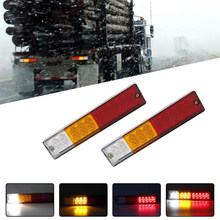 2 Pcs Tahan Air 20 LED Truk Ekor Reverse Light Bulbs 12 V Truk Trailer Bus ATV Belakang Rem Lampu Peringatan lampu(China)