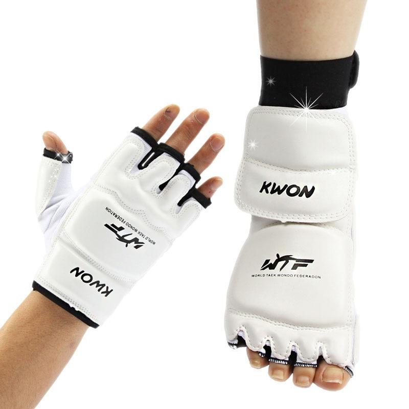 Guantes de taekwondo sparring mano protector de pie cubierta guantes de boxeo Taekwondo Brace protección para adultos niños