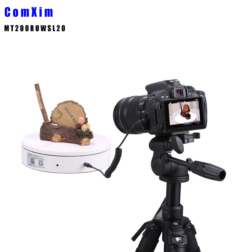 Electric Turntable for photography Controlled via Infared Remote OR WIFI+USB Plug, Support Secondary Development MT200RUWSL20K