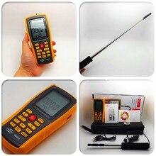 Gm8903 цифровой анемометр скорость ветра / поток воздуха / температуры измерения 0 ~ 30 м/с с интерфейсом USB и тонкий датчик