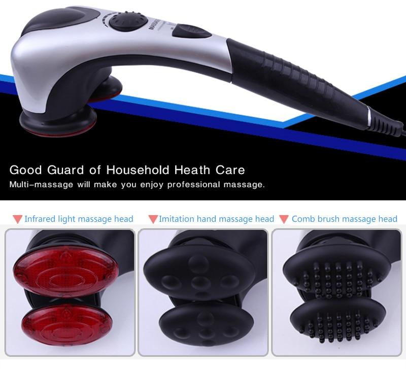 HANRIVER High quality Intelligent cervical spine back body massager stick multifunctional body massage device parents Gift