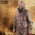 Winter Camouflage Hunt Outdoors Vest Men Thermal Cotton-Padded Forest Camo Clothes Tactical Sleeveless Jacket Thicken Waistcoat