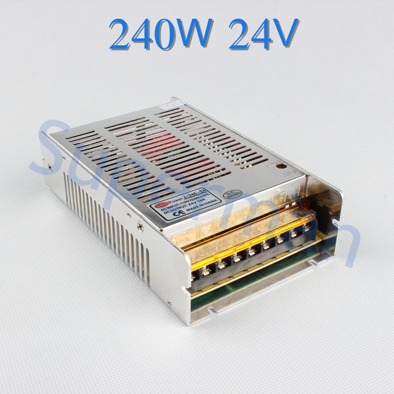 TOP brand DIANQI 24V 10A 240W switching power supply LED Strip Light power supply  transformer 100-240V   Free Shipping