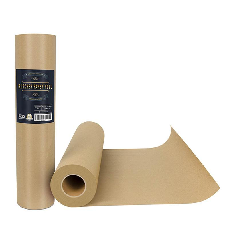 Butcher Kraft Paper Roll Food Grade Acking Paper All natural FDA Approved Perfect for Smoking BBQ