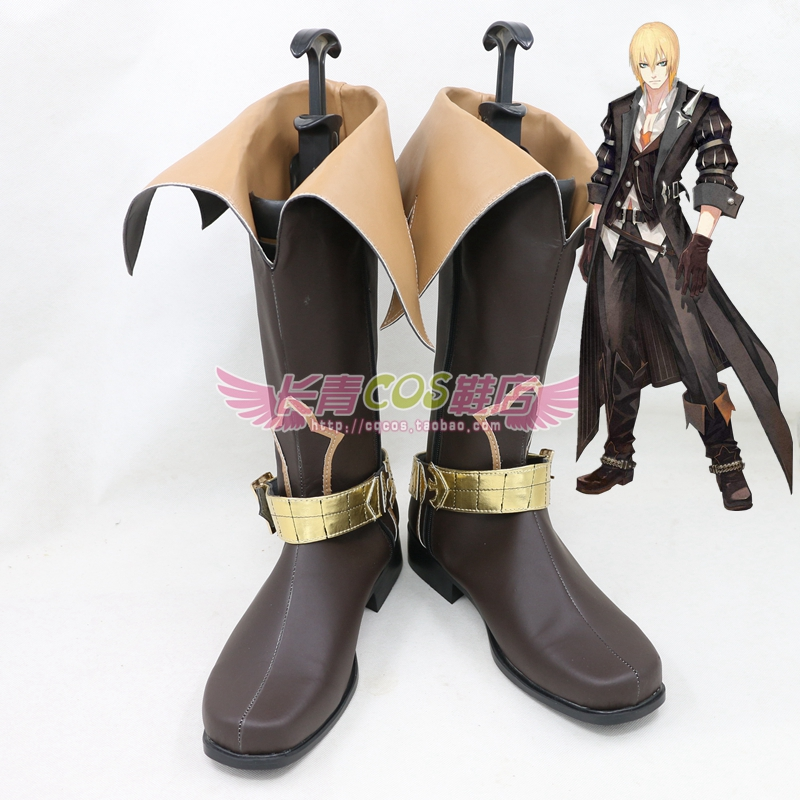 Tales of Berseria Eizen Cosplay Shoes Boots Custom Made 8009