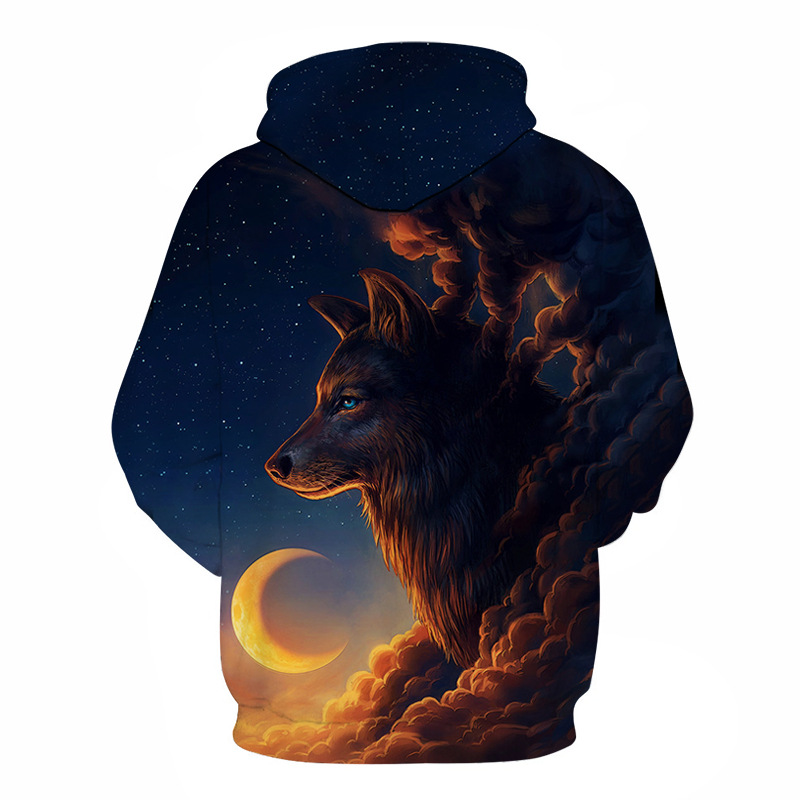 Night Guardian Wolf 3D hoodies  1