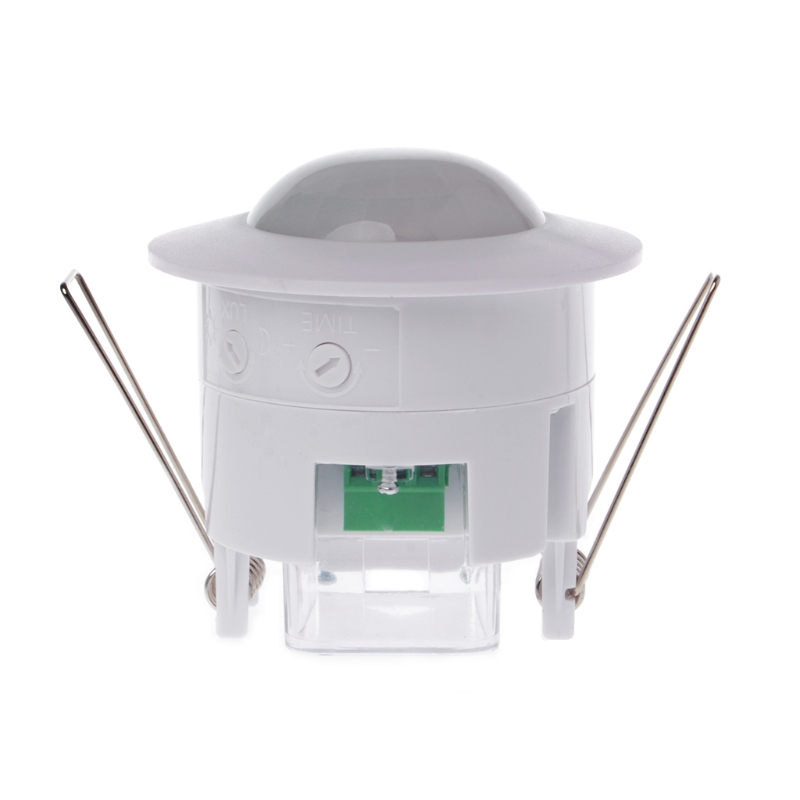 110-240V AC Mini Adjustable 360 Degree Ceiling PIR Infrared Body Motion Sensor Detector Lamp Light Switch White xsav11801 inductive proximity switch speed sensor motion rotate detector 0 10mm dc ac 24 240v 2 wire 30mm replace telemecanique