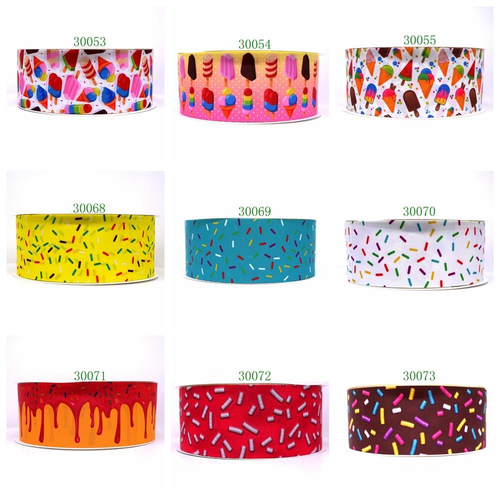 Free Shipping 2019 New Arrival Ribbons Hair Accessories Ribbon 10 Yards  Printed Grosgrain Ribbons 30071