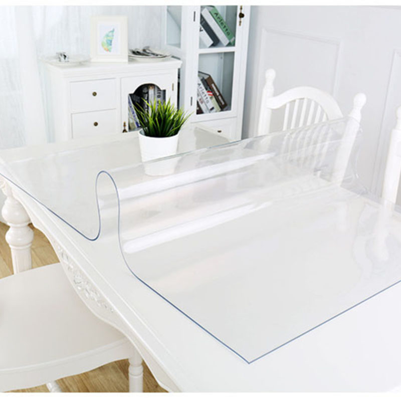 Coffee Table Glass Top Cover: Waterproof Transparent Tablecloth Rectangle Kitchen Dining