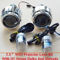GZTOPHID Car Styling Retrofit Kit Including 35W H1 HID Bi Xenon Headlamp Bulb And Projector Lens