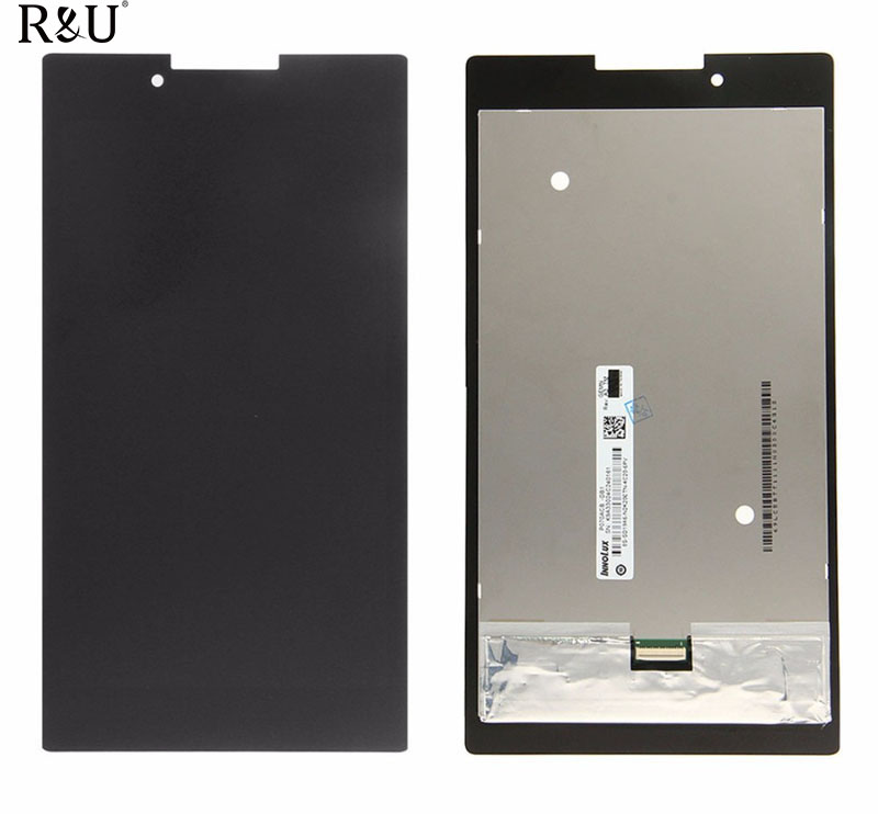 R&U high quality LCD display & touch screen Digitizer assembly For lenovo Tab 2 A7-30 A7-30HC A7-30GC Tablet PC free shipping
