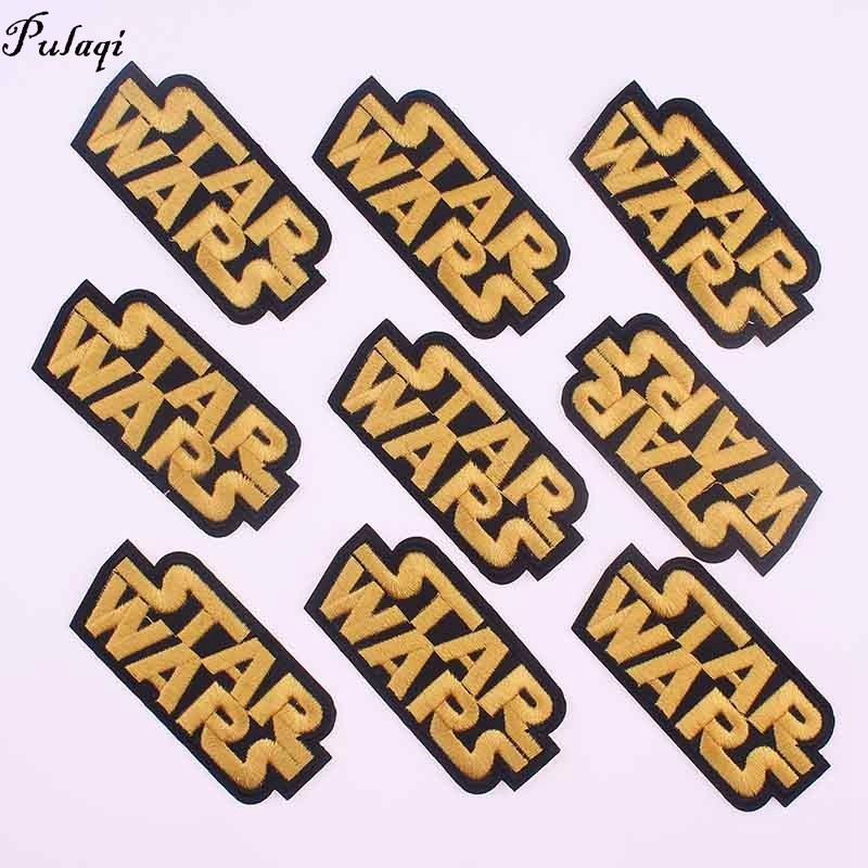 Pulaqi Star Wars <font><b>Patches</b></font> for Clothing Letter Appliques Iron On Stickers Sewing Diy <font><b>Coat</b></font> Jeans Embroidered Accessories D image