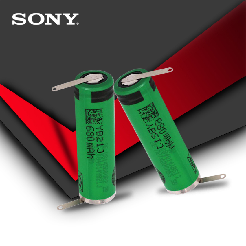 2pc 100% Original High Capacity AA 680mAh VR2 <font><b>14500</b></font> <font><b>Batteries</b></font> <font><b>Li</b></font>-<font><b>ion</b></font> 3.7v Rechargeable <font><b>Battery</b></font> With Welding image