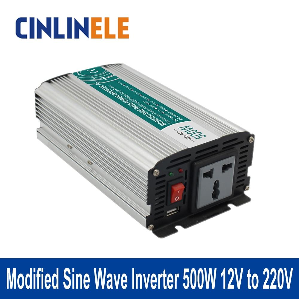 Modified Sine Wave Inverter 500W CLM500A-122 DC 12V to AC 220V 500W Surge Power 1000W Power ...