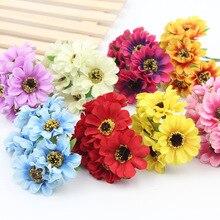 Buy mini craft silk flowers and get free shipping on aliexpress 6pcslot mini silk flower bouquet petal leaf flower for home garden wedding car corsage mightylinksfo