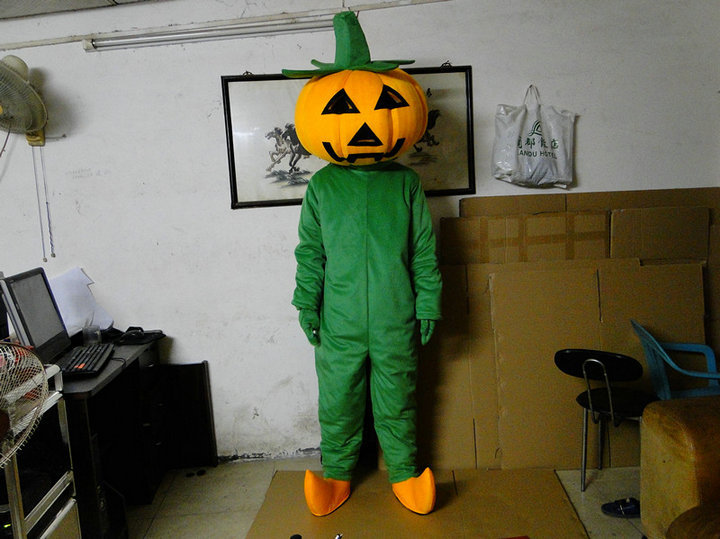 Wholesale Halloween Pumpkin adult mascot Adult Halloween Pumpkin mascot costume Free shipping