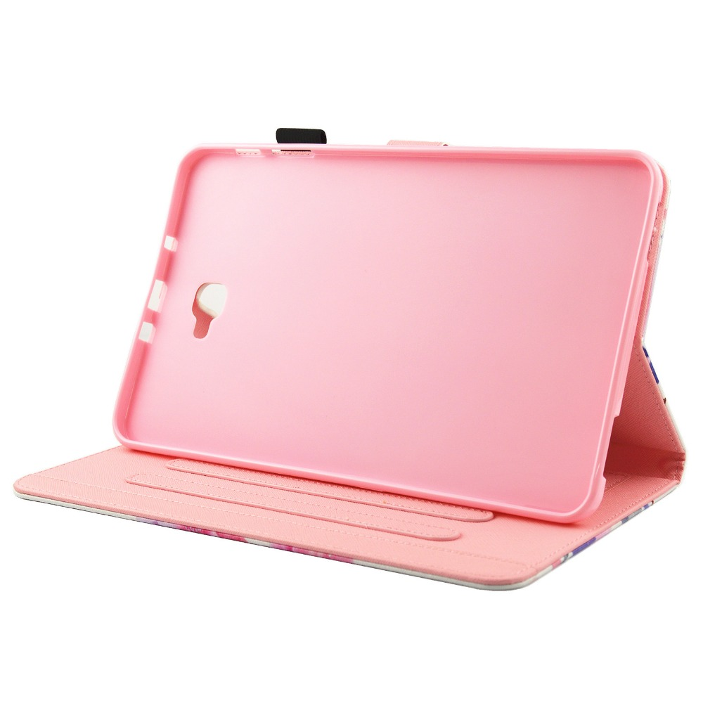 For Fundas Samsung Galaxy Tab A 10.1 A6 T580 T585 Case Fashion Unicorn Flip Folio PU Leather Stand Cover Cases Soft TPU SM-T580C