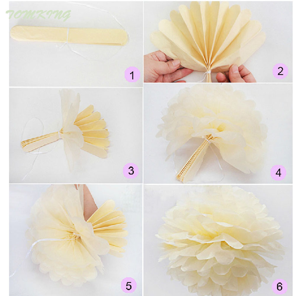 New fashion 5pcs 30cm Wedding Tissue Paper Pom Poms Birthday Party ...