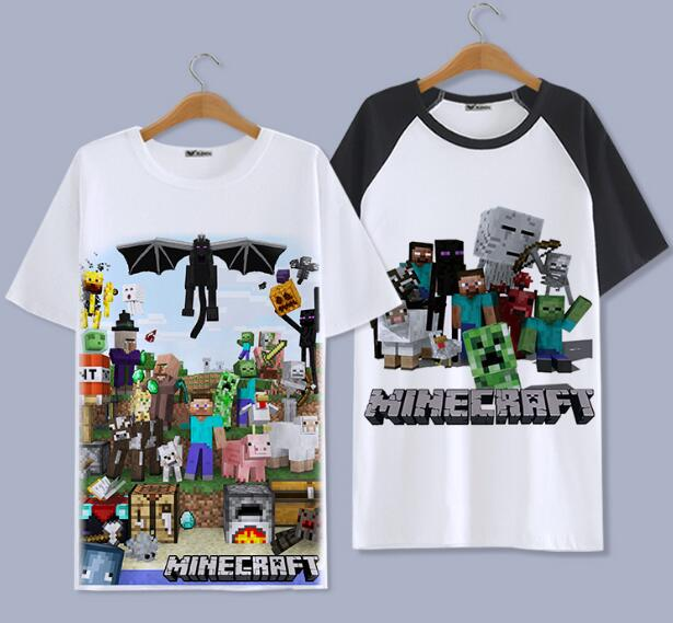 3 STYLES Minecraft FAMILY SHIRTS MOTHER FATHER SHIRTS WOMEN MEN BOY GIRL KID SHIRT CHILD CHILDREN COSPLAY TEE T SHIRT  clothes