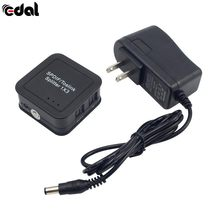EDAL Portable Mini SPDIF TOSLINK Fiber Divider Digital Optical 1x3 1 Input 3 Output Audio Splitter Adapter US Plug(China)
