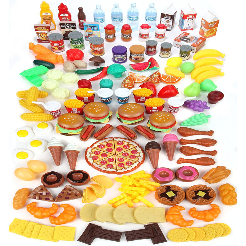Play Food Set Toys : Play food set for kids huge piece pretend toys is
