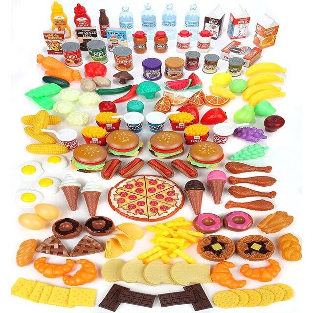 Spielen Lebensmittel Set Für Kinder Riesige 120 Stück Pretend Lebensmittel  Spielzeug Ist Perfekt Für Küche